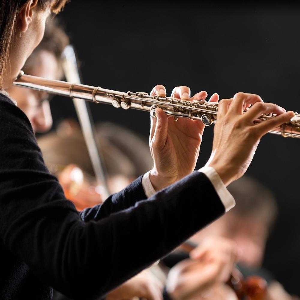 musico tocando flauta traversa