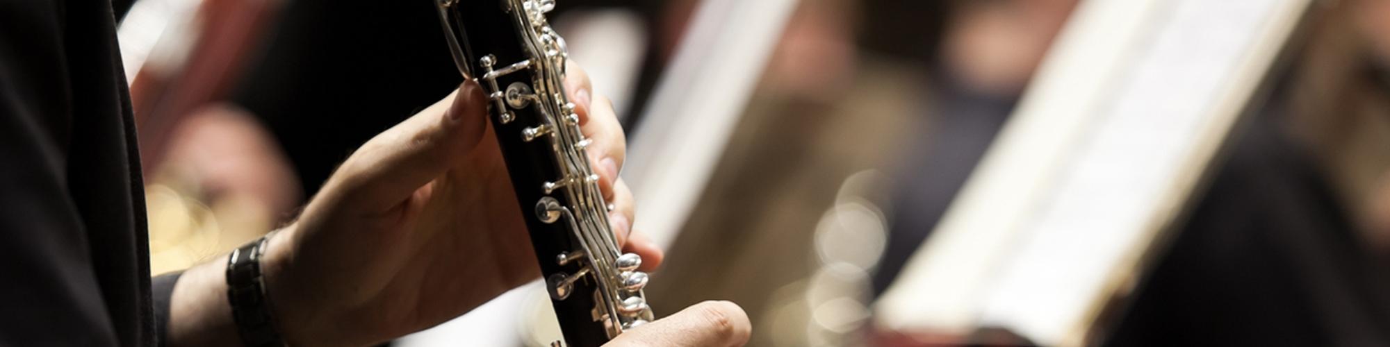 musico tocando el clarinete